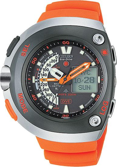 The 20th anniversary citizen dive watch the aqualand jv0030 19f - Orange dive watch ...